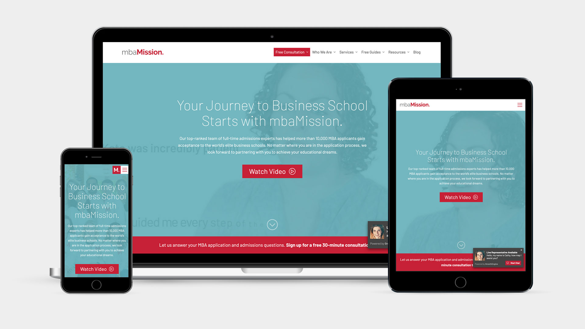 mbaMission - Responsive Website
