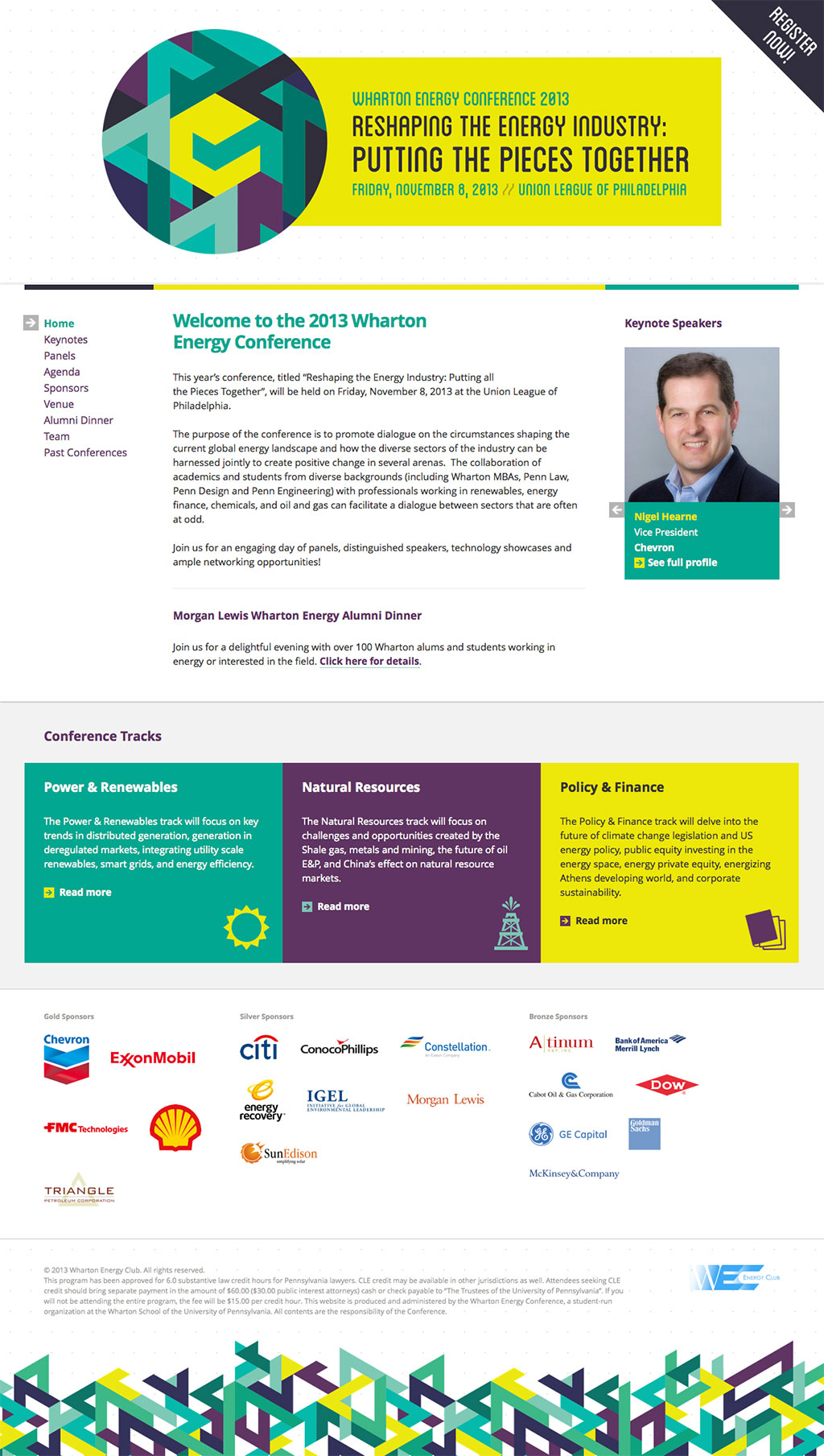 Wharton Energy Conference 2013 - Website