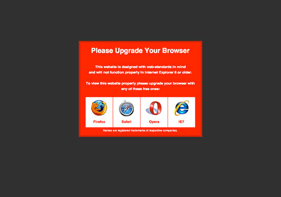 Please Upgrade Your Browser