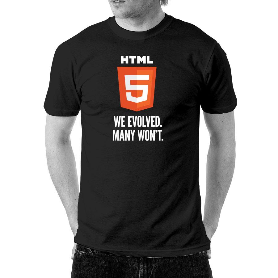 HTML5 (Black) - Front