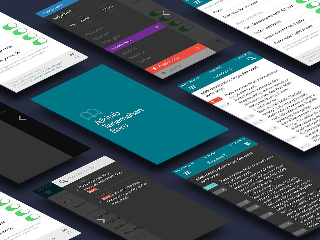 Alkitab Terjemahan Baru - Isometric App Mockup
